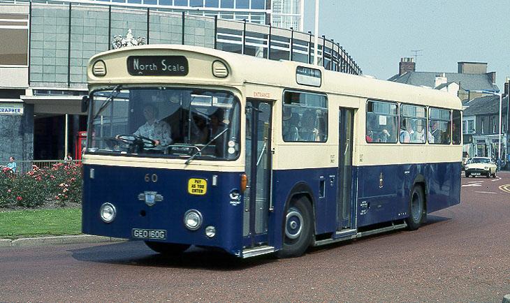 Jeo772 Black And White Single Decker Outside Town Hall Fleet No 72  C2 B7 D457beo Barrow Borough Transport Bus Around 1988