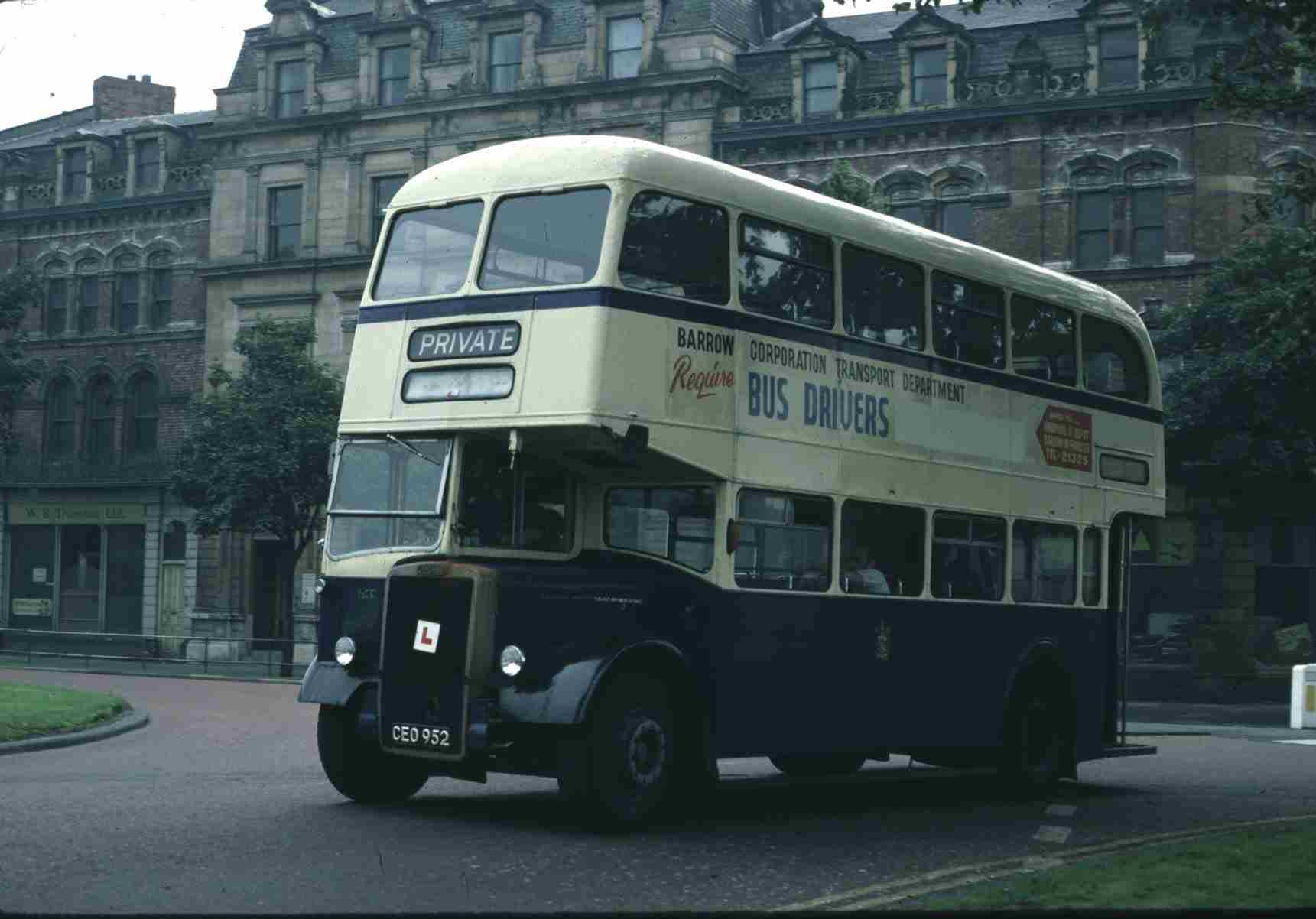 Ceo952 Double Decker Used As A Training Bus With L Plates